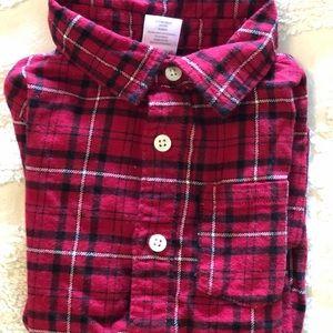 Gymboree boys flannel shirt